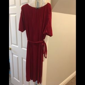 Anthropologie ruby red sack dress